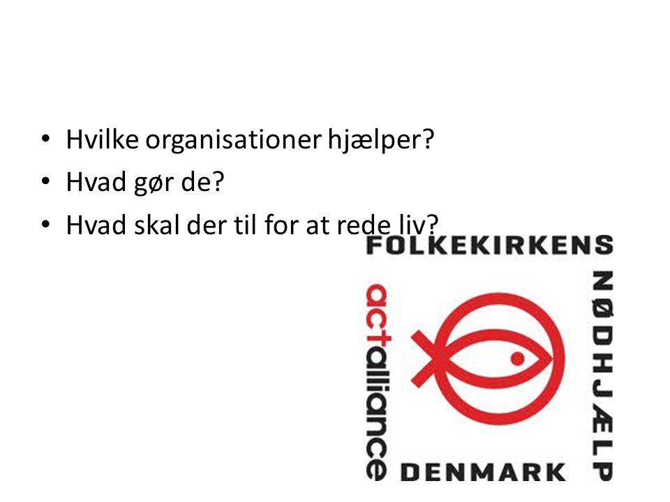 Hvilke organisationer hjælper