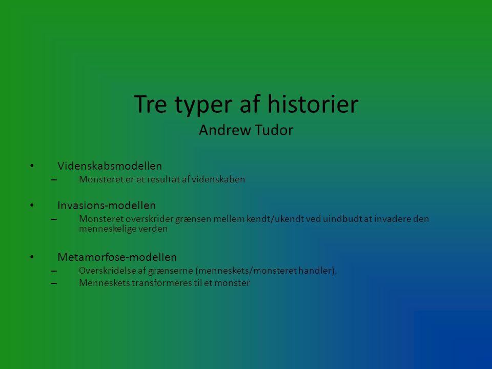 Tre typer af historier Andrew Tudor