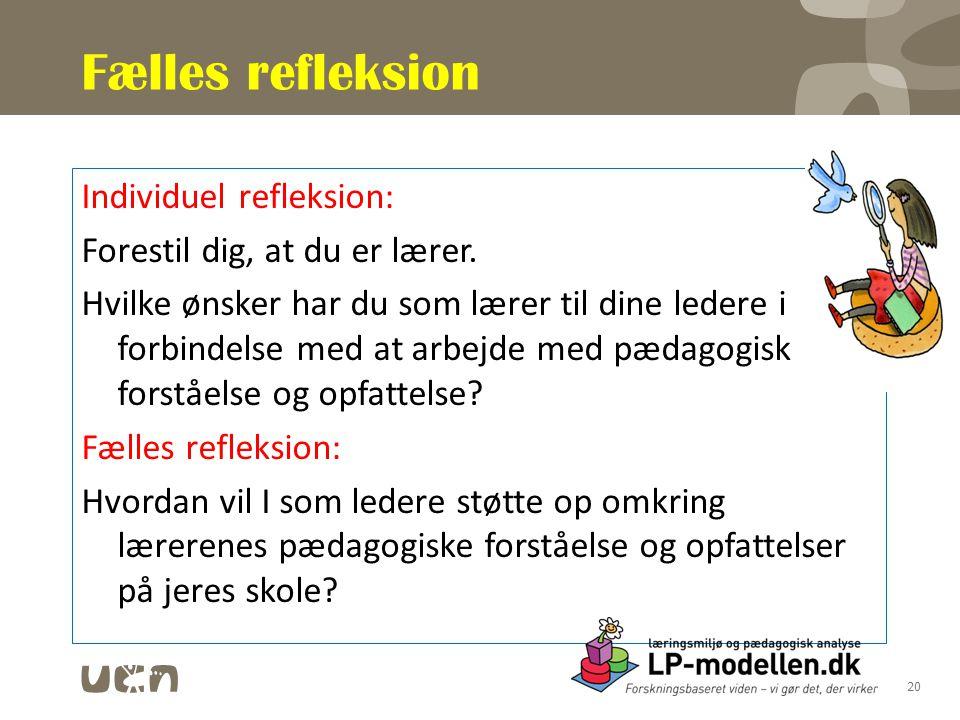 Fælles refleksion