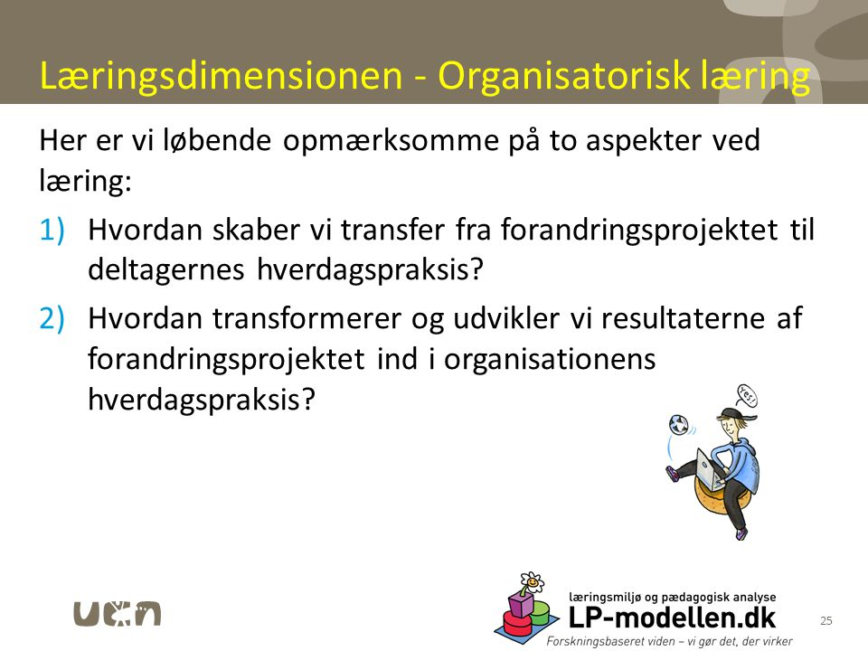 Læringsdimensionen - Organisatorisk læring
