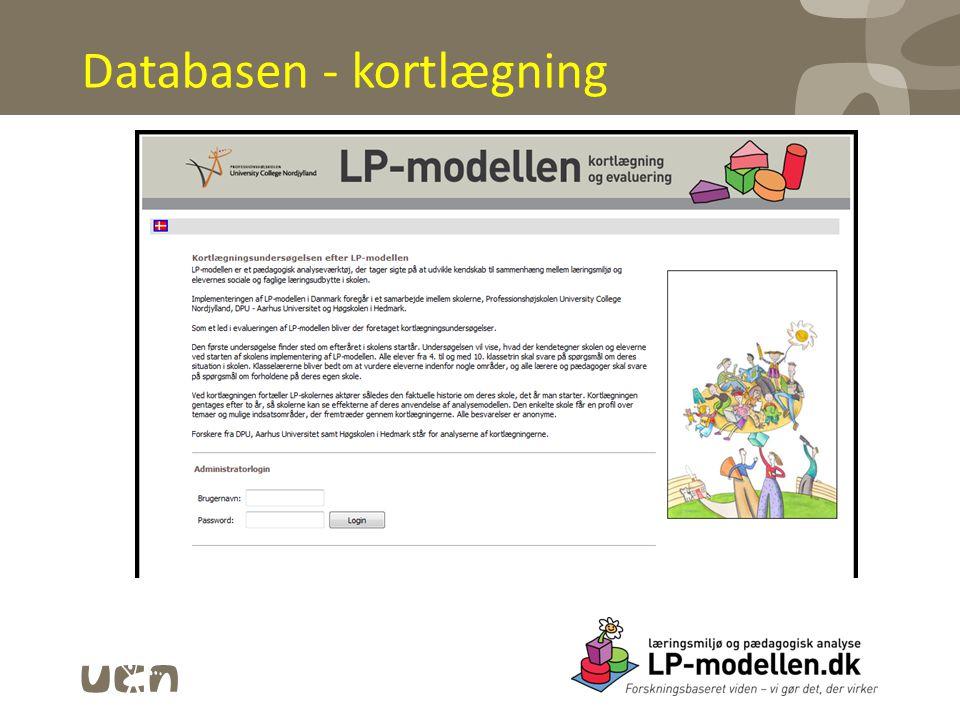 Databasen - kortlægning