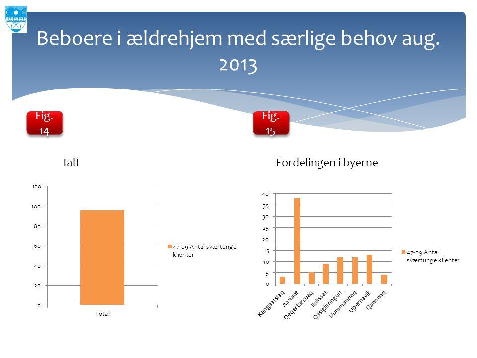 Beboere i ældrehjem med særlige behov aug. 2013