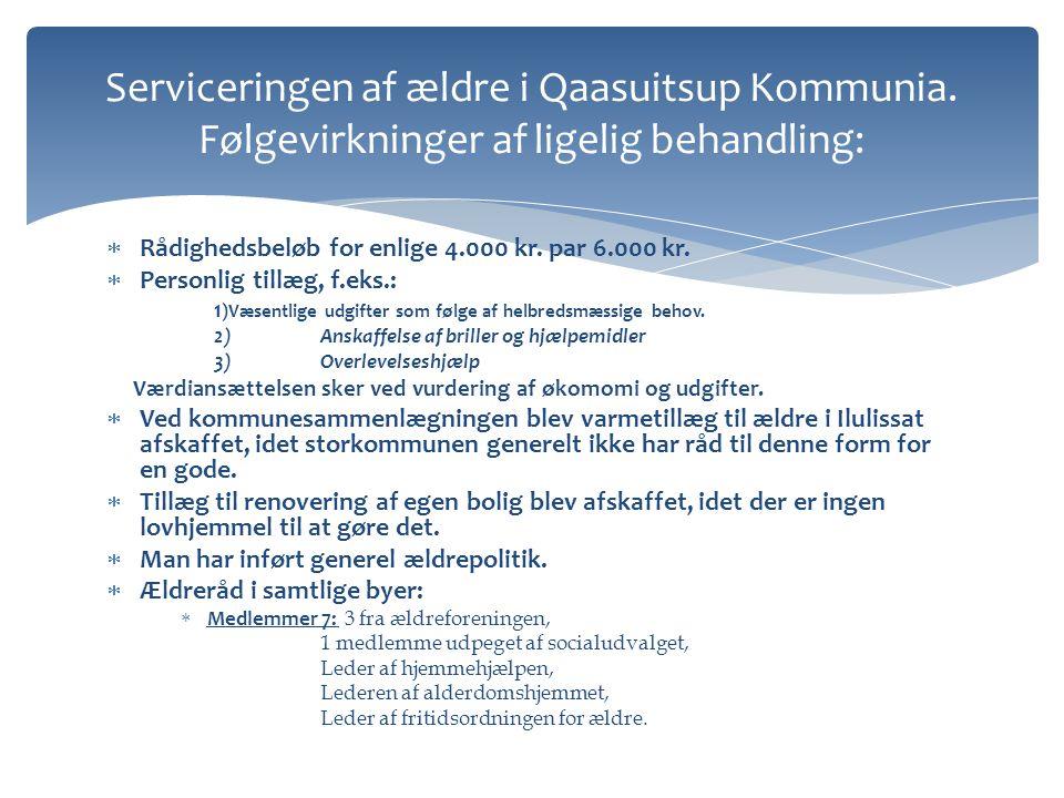 Serviceringen af ældre i Qaasuitsup Kommunia
