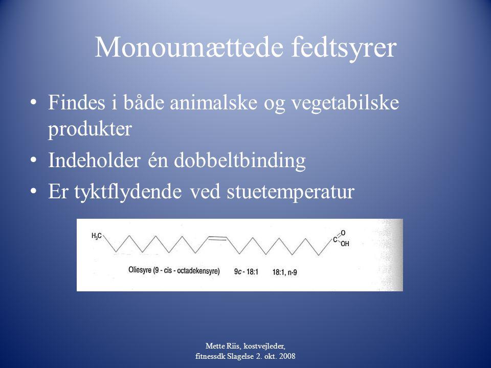 Monoumættede fedtsyrer