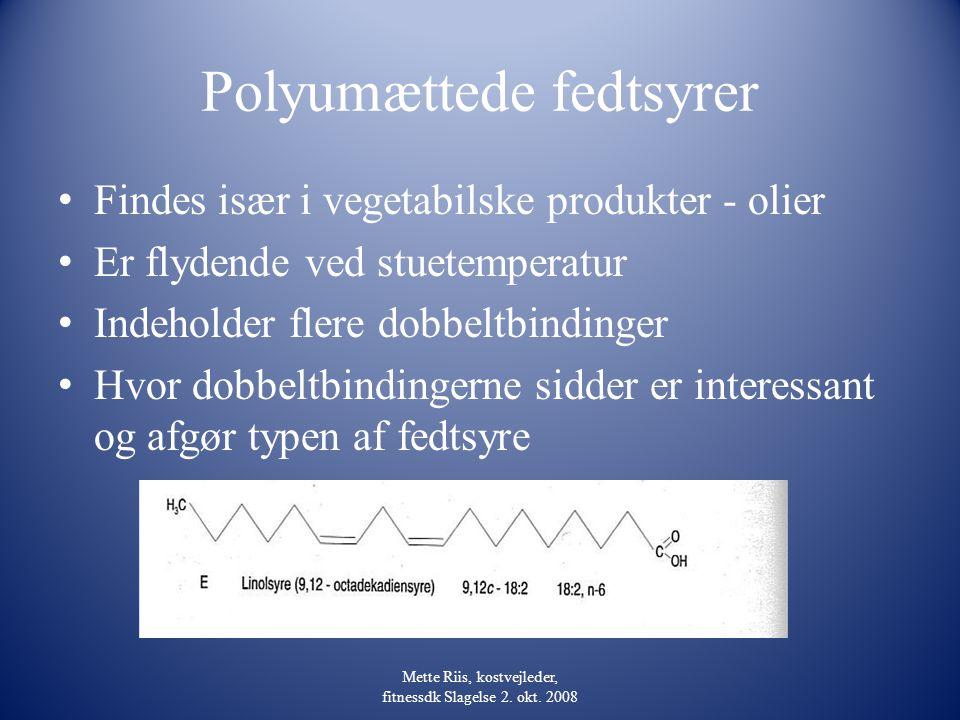 Polyumættede fedtsyrer