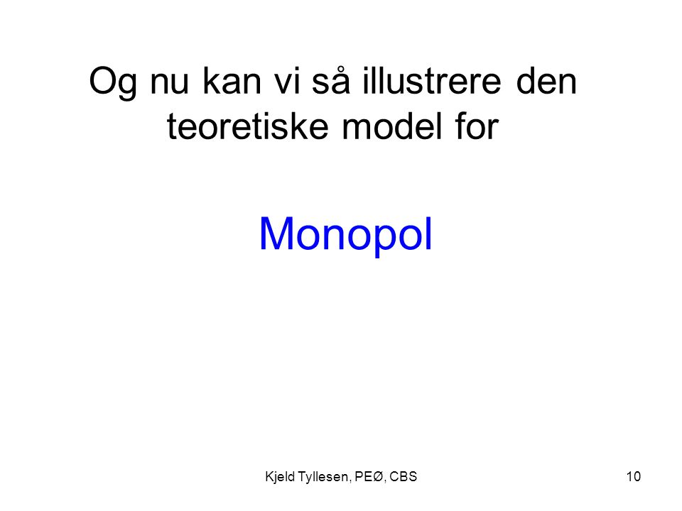 Og nu kan vi så illustrere den teoretiske model for