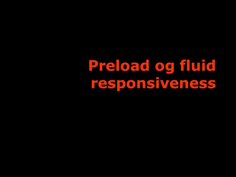 Preload og fluid responsiveness