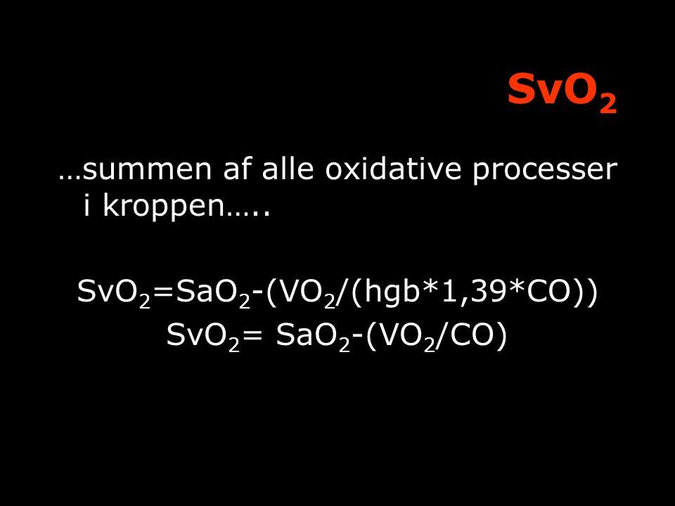 SvO2=SaO2-(VO2/(hgb*1,39*CO))