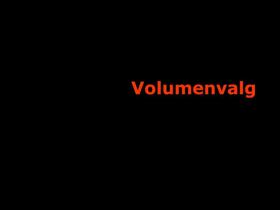 Volumenvalg