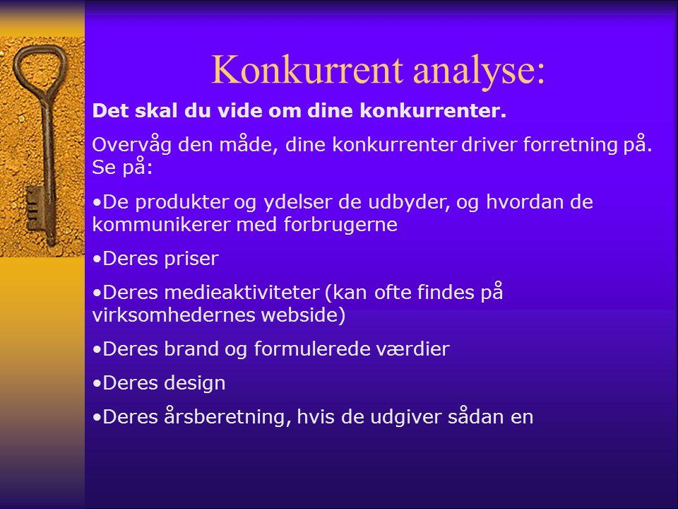 Konkurrent analyse: Det skal du vide om dine konkurrenter.