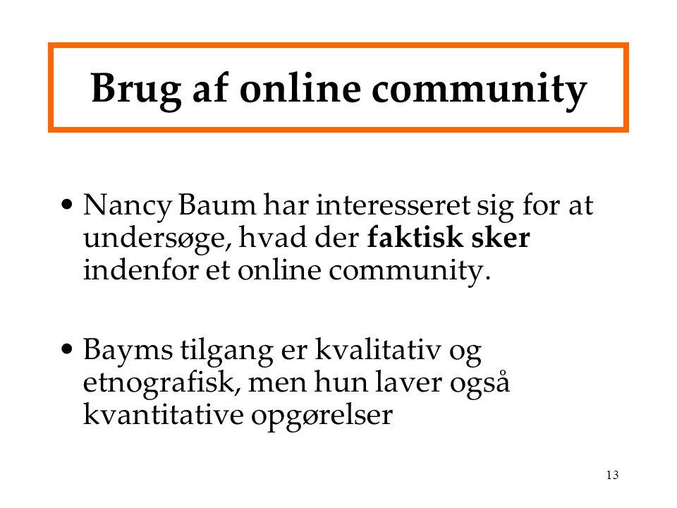 Brug af online community