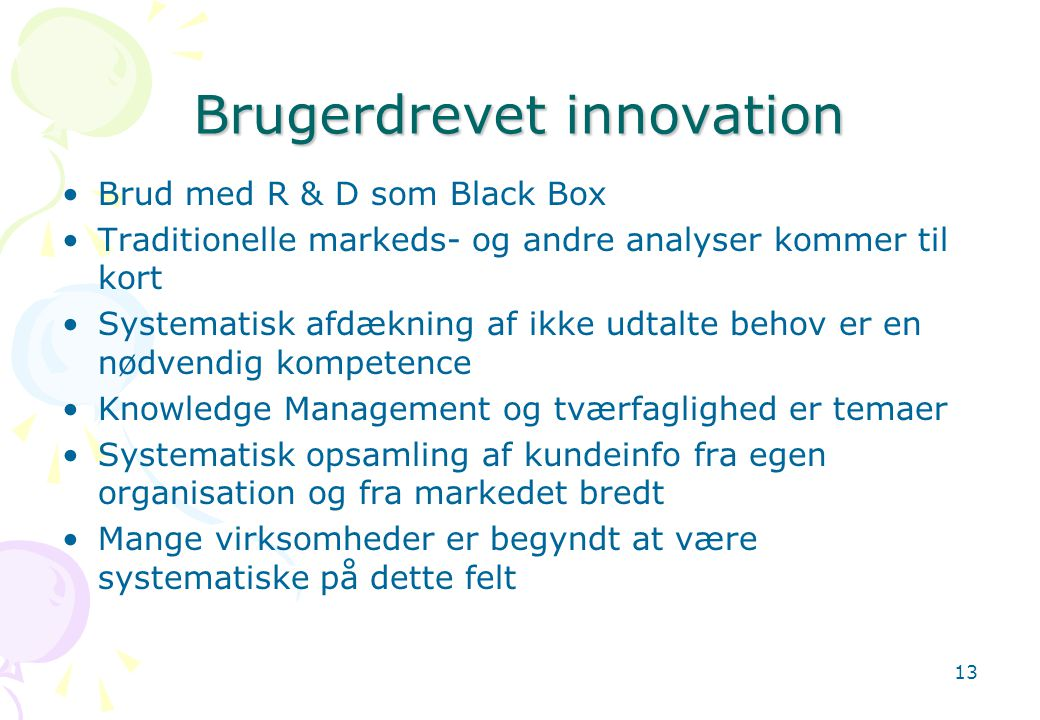 Brugerdrevet innovation