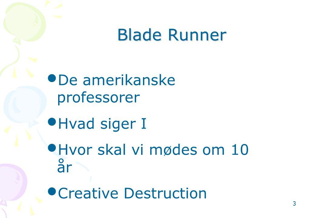 Blade Runner De amerikanske professorer Hvad siger I