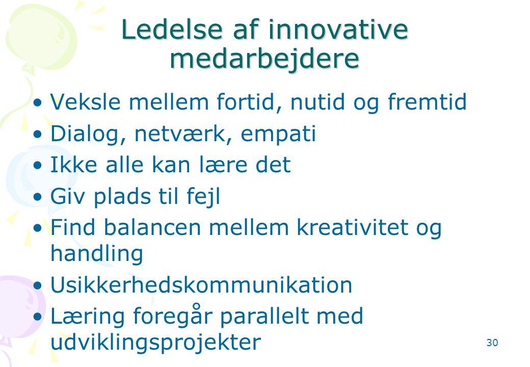 Ledelse af innovative medarbejdere