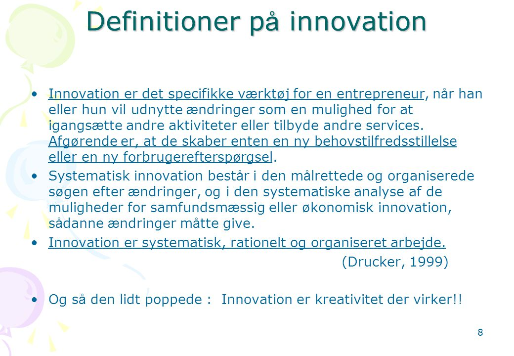 Definitioner på innovation