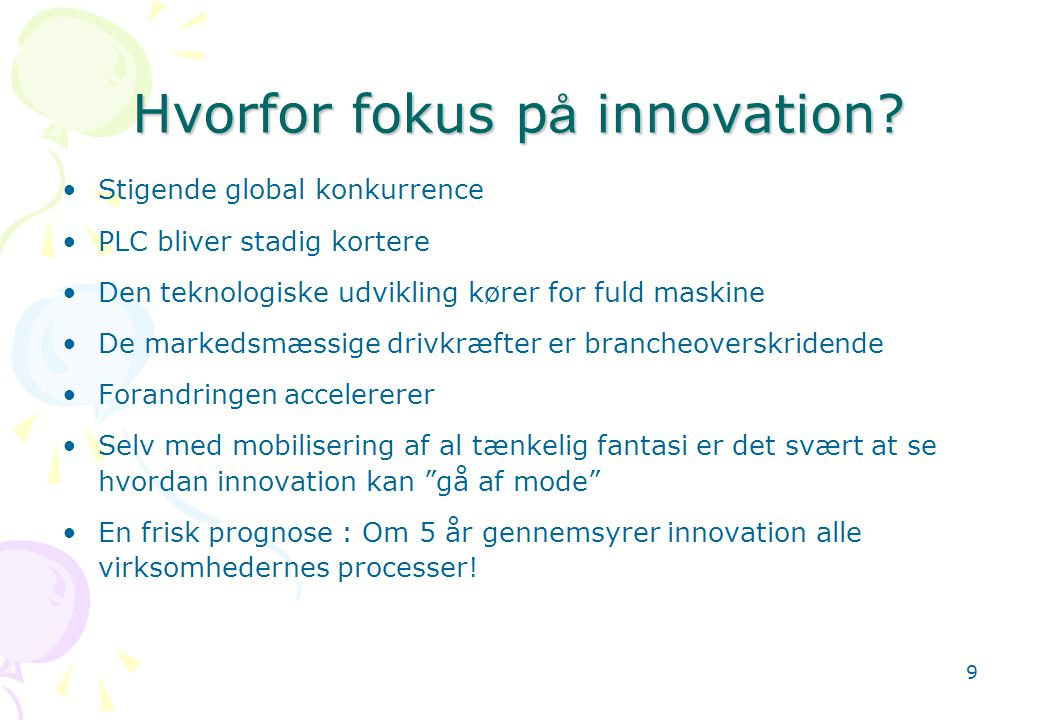 Hvorfor fokus på innovation