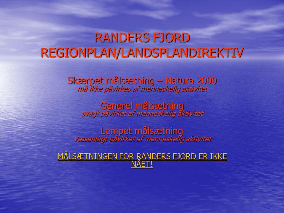 RANDERS FJORD REGIONPLAN/LANDSPLANDIREKTIV