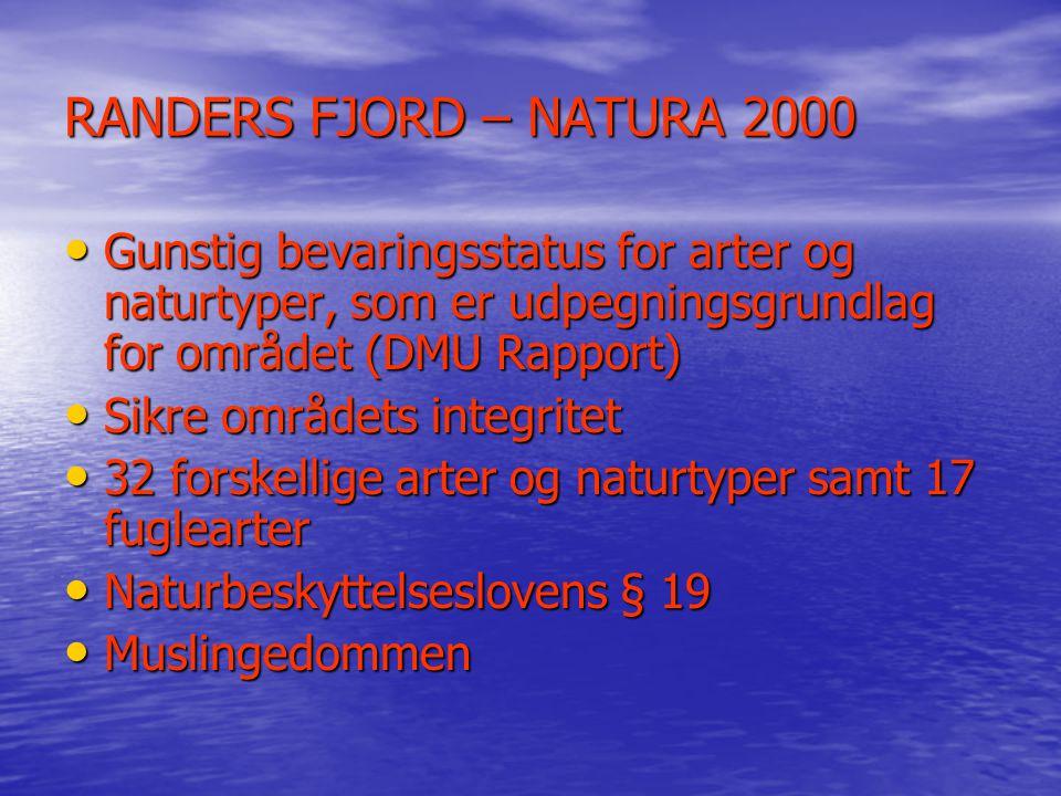 RANDERS FJORD – NATURA 2000 Gunstig bevaringsstatus for arter og naturtyper, som er udpegningsgrundlag for området (DMU Rapport)