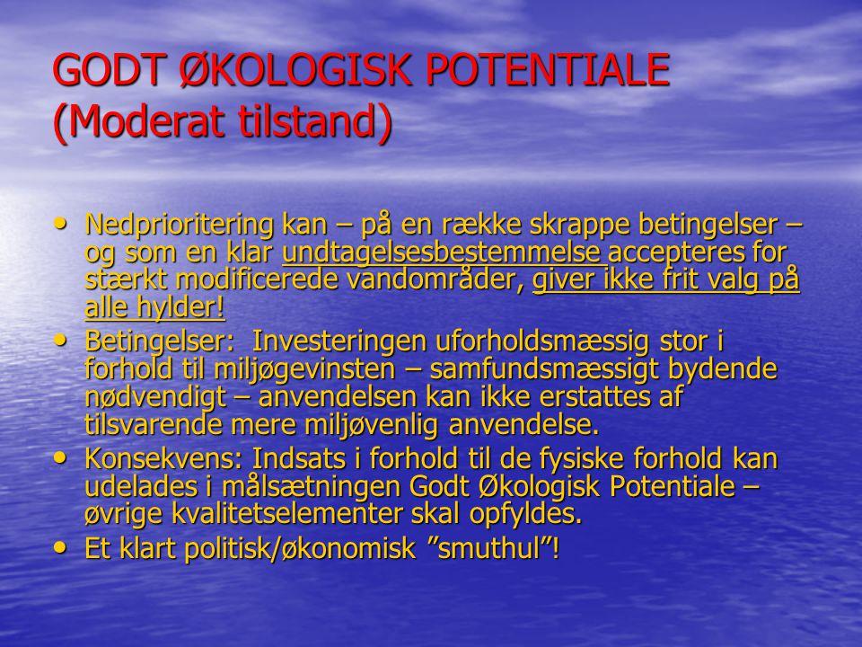 GODT ØKOLOGISK POTENTIALE (Moderat tilstand)