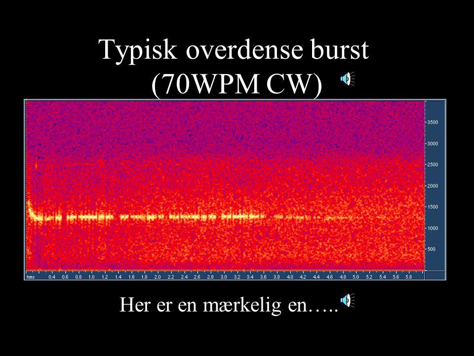 Typisk overdense burst (70WPM CW)