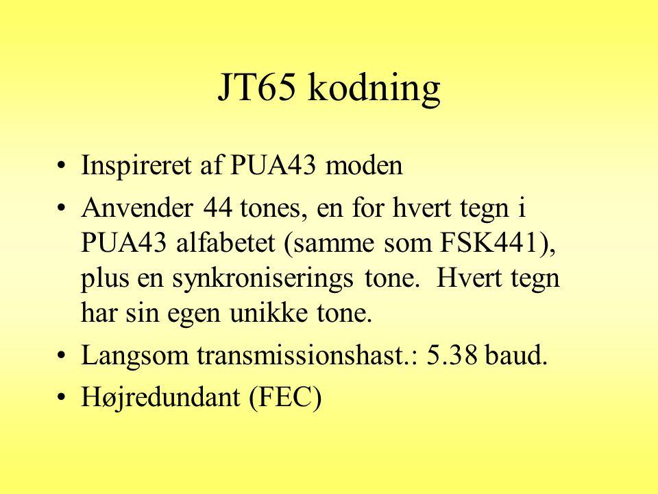 JT65 kodning Inspireret af PUA43 moden