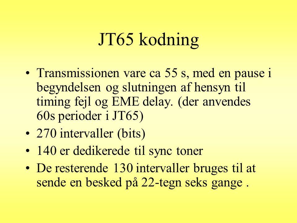 JT65 kodning