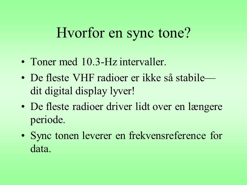 Hvorfor en sync tone Toner med 10.3-Hz intervaller.