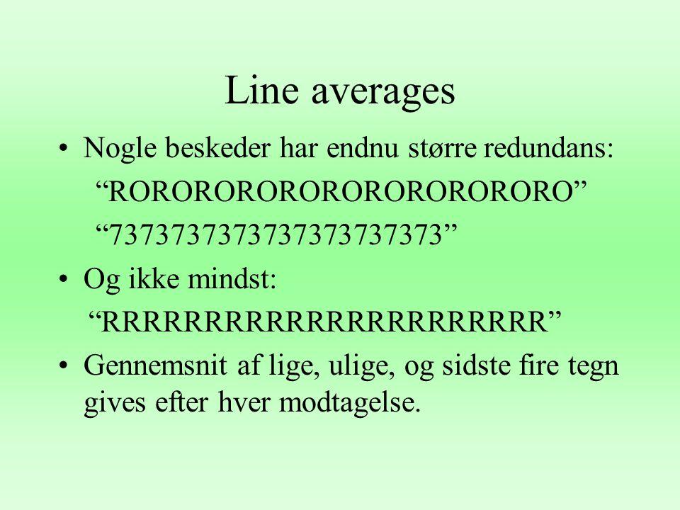 Line averages Nogle beskeder har endnu større redundans: