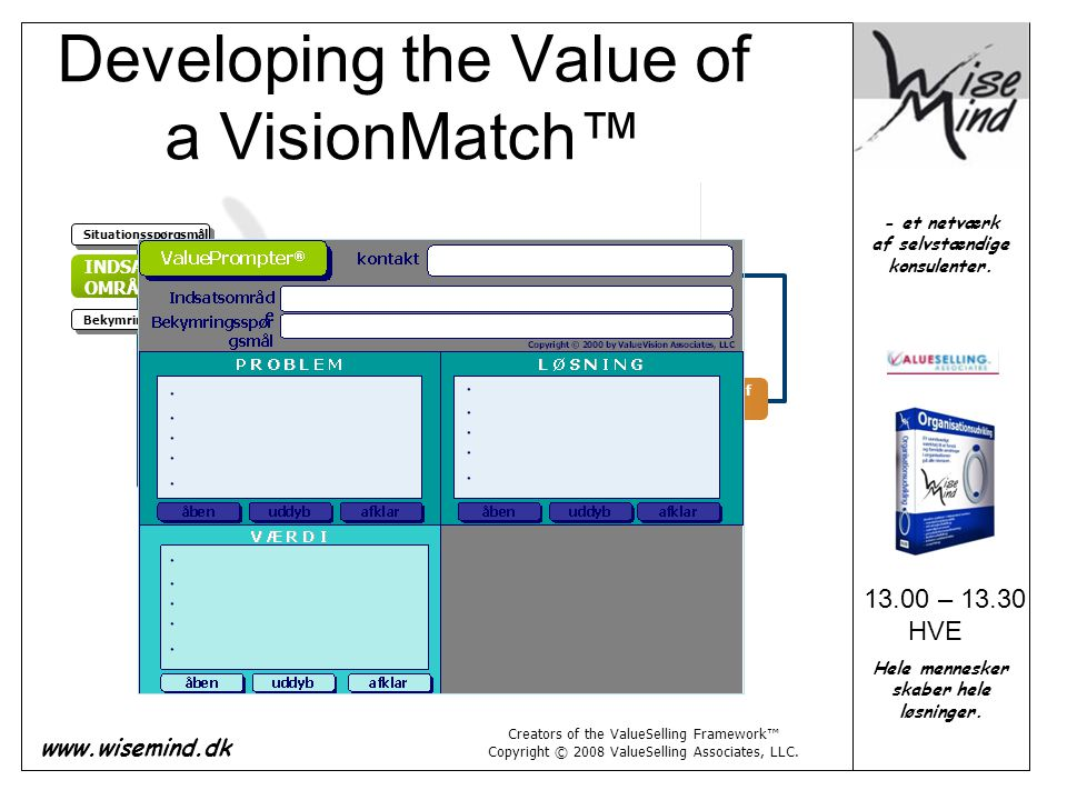 Developing the Value of a VisionMatch™