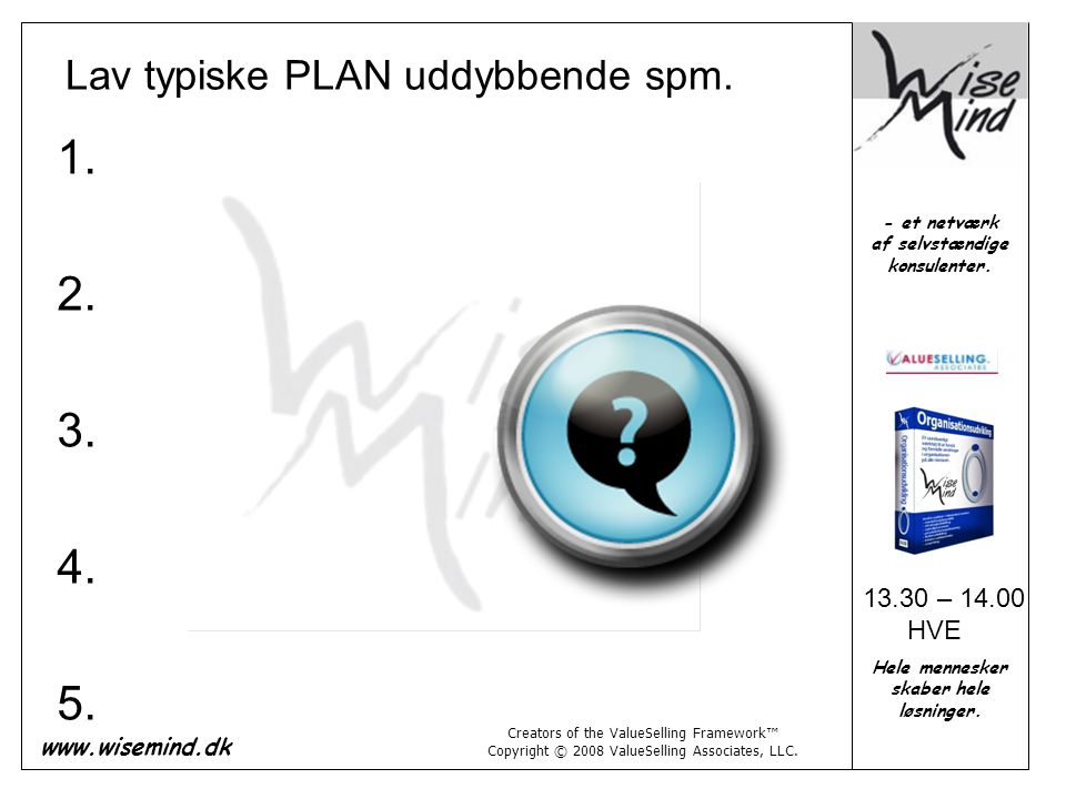 Lav typiske PLAN uddybbende spm.