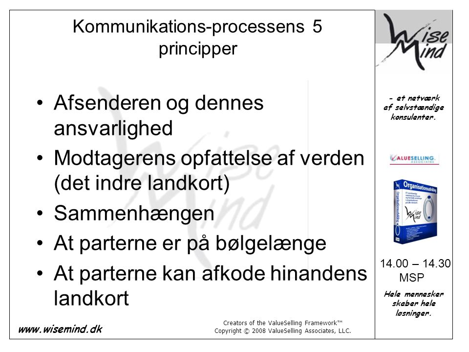 Kommunikations-processens 5 principper