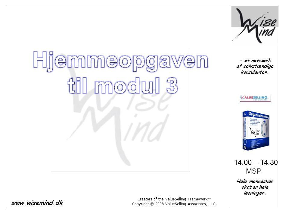 Hjemmeopgaven til modul 3