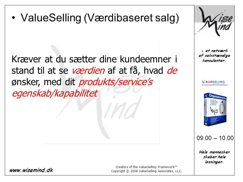 ValueSelling (Værdibaseret salg)