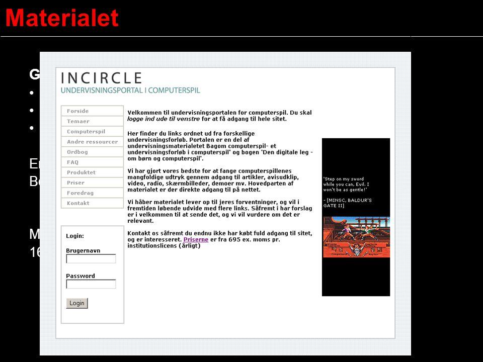 Materialet Grundpakken 1 eksemplar af bogen Den digitale leg