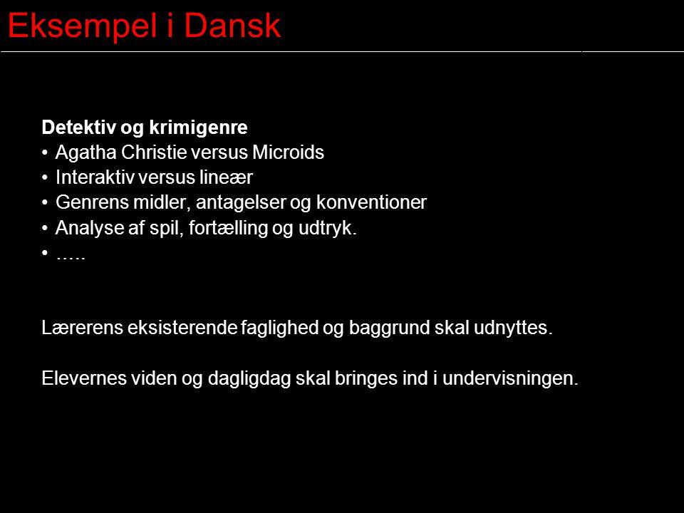 Eksempel i Dansk Detektiv og krimigenre