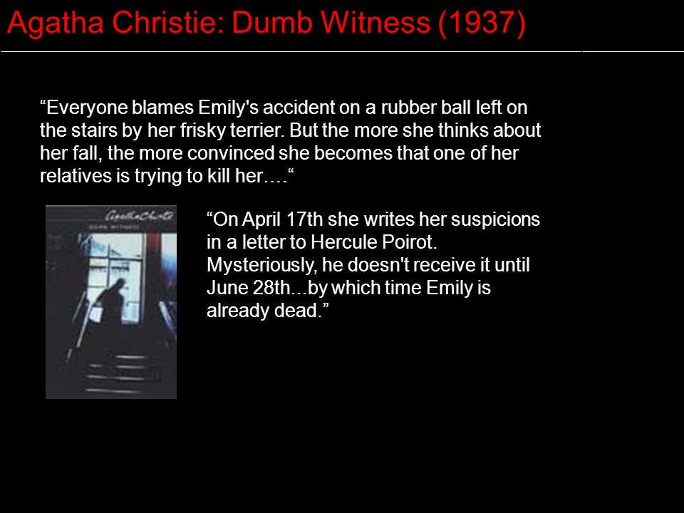 Agatha Christie: Dumb Witness (1937)