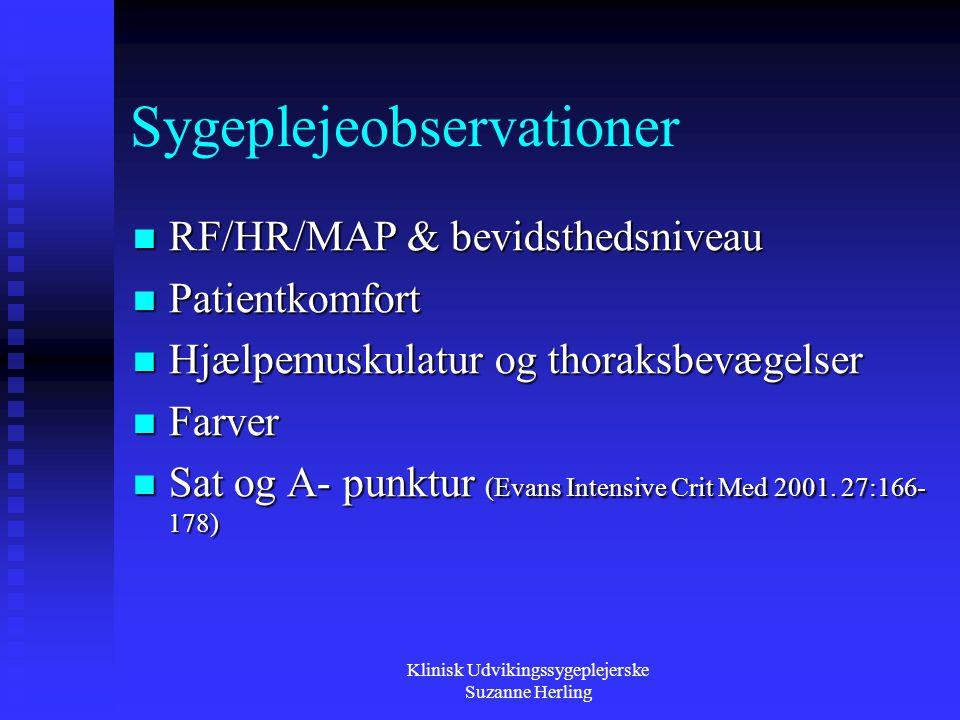 Sygeplejeobservationer