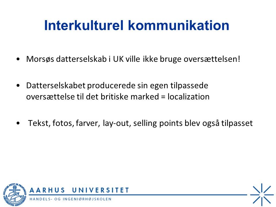 Interkulturel kommunikation