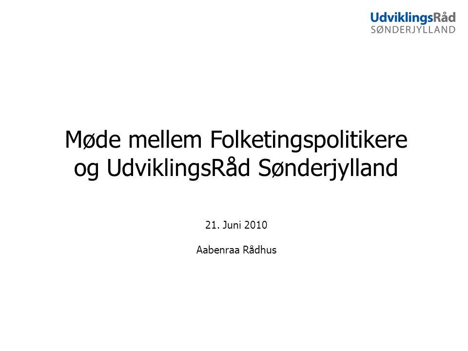 Møde mellem Folketingspolitikere og UdviklingsRåd Sønderjylland