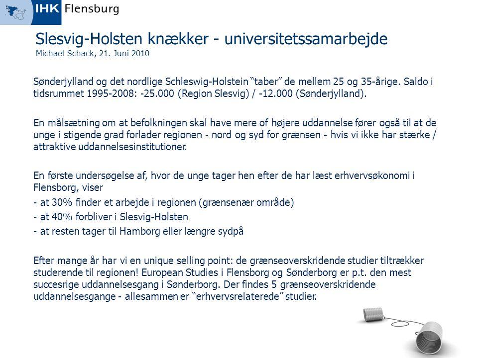 Slesvig-Holsten knækker - universitetssamarbejde
