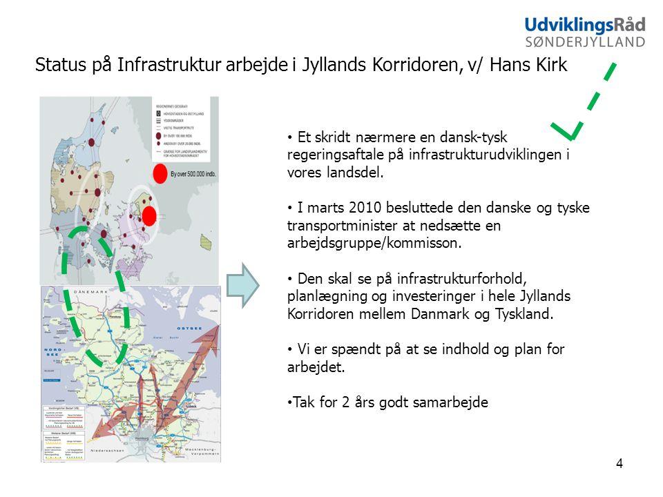 Status på Infrastruktur arbejde i Jyllands Korridoren, v/ Hans Kirk