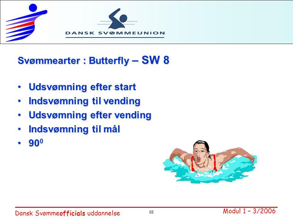 Svømmearter : Butterfly – SW 8 Udsvømning efter start