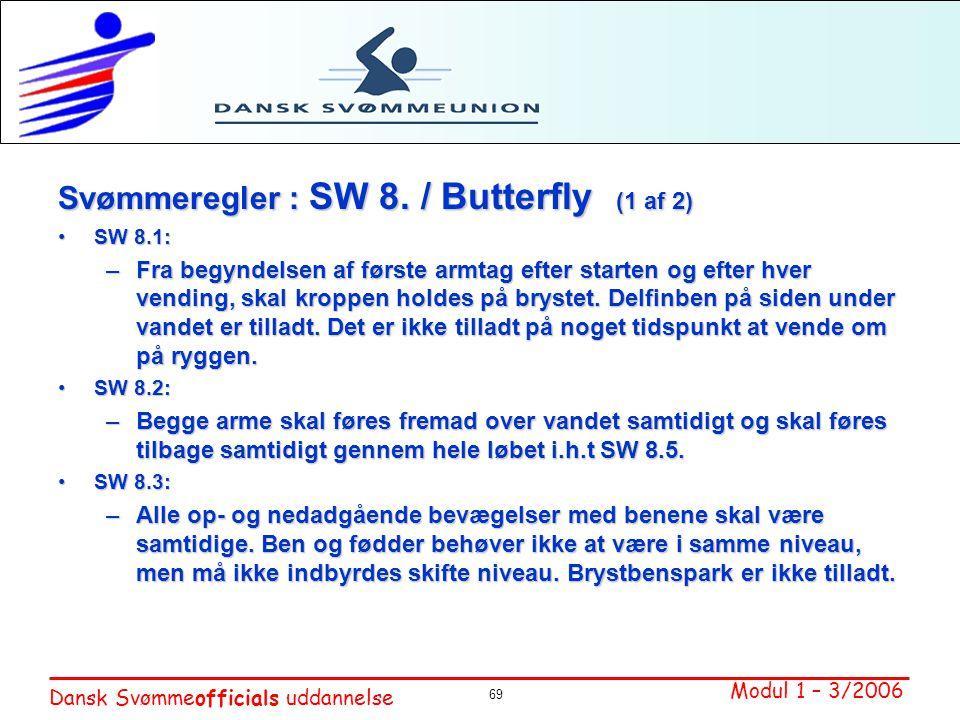 Svømmeregler : SW 8. / Butterfly (1 af 2)