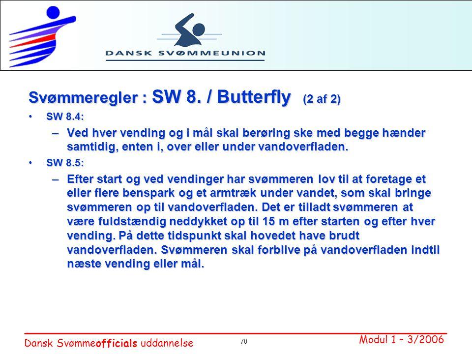 Svømmeregler : SW 8. / Butterfly (2 af 2)