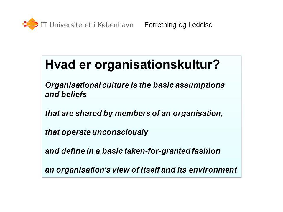Hvad er organisationskultur
