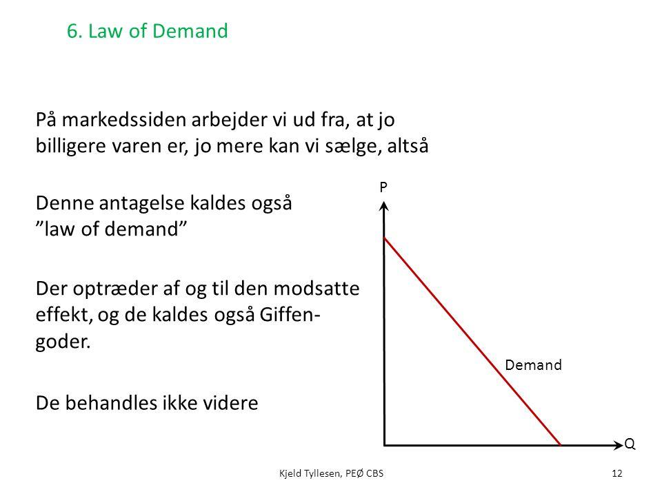 Denne antagelse kaldes også law of demand