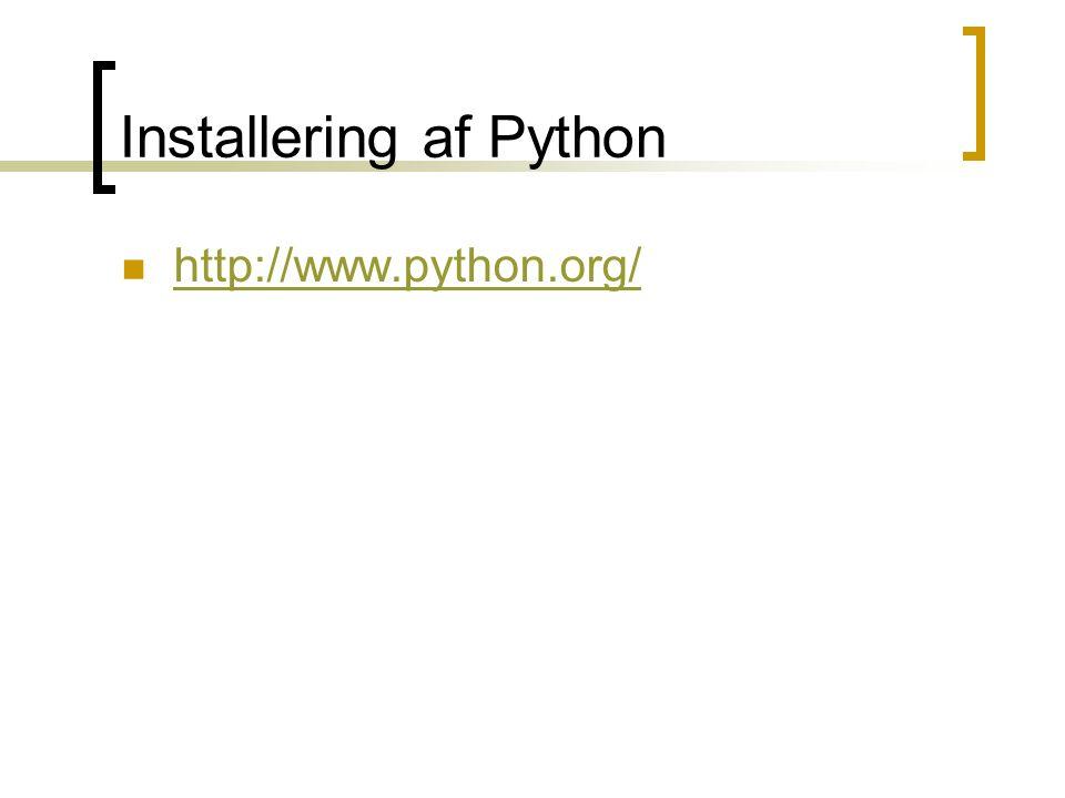 Installering af Python