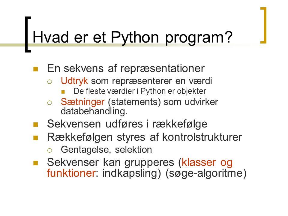 Hvad er et Python program