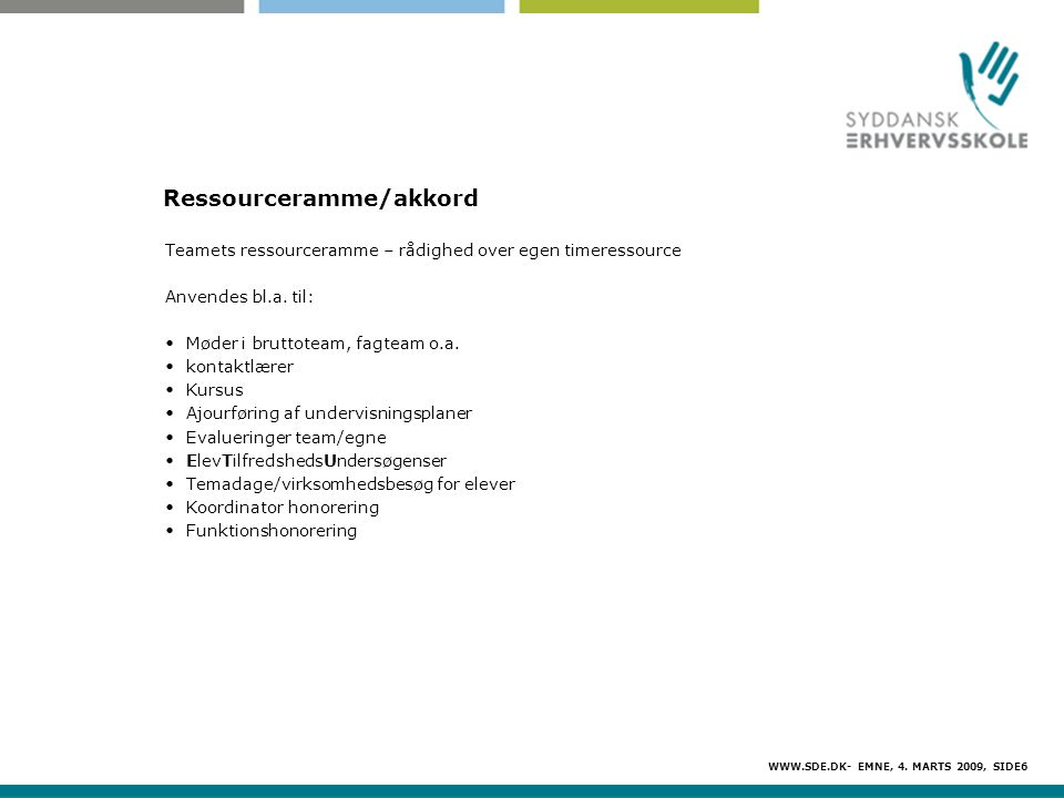 Ressourceramme/akkord