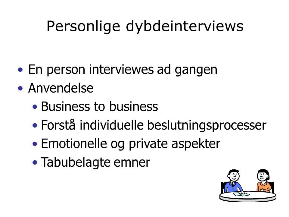 Personlige dybdeinterviews